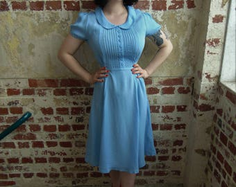 Dorothy Dress in Powder Blue by The Seamstress of Bloomsbury | Authentic Vintage 1940's Style
