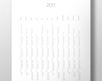 2017 Yearly & Monthly Planners, 2017 Calendar, Printable, 8.5x11, 11x14, 18x24, Clipboard Calendar, Wall Calendar, Desk Calendar