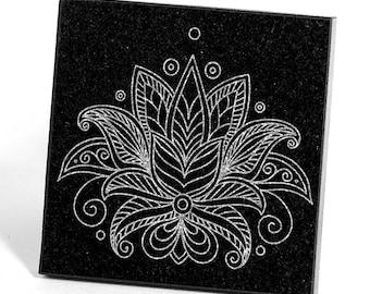 Lotus Flower Granite Coaster