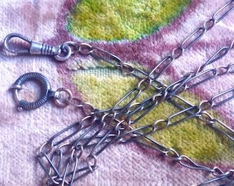"""Victorian 60"""" Niello Chain with Swivel Clasp"""