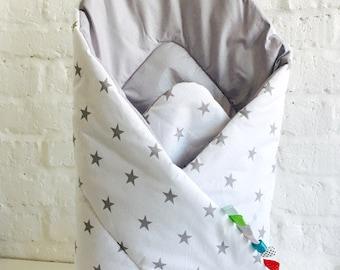 Squirrel puck towel for BABIES, newborn baby, blanket, sleeping bag, STAR