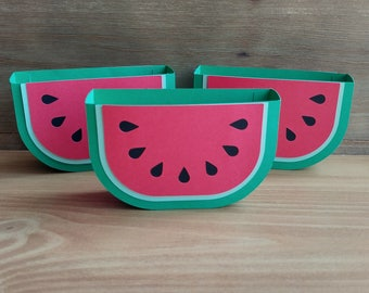 Summer Watermelon Party Favor - Pool Party Favor Boxes - Set of 10 - 4th of July Favor Containers - Table Decor - Luau Favor Box