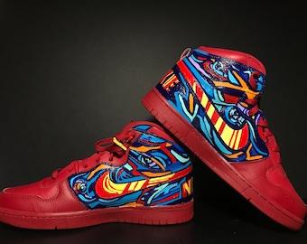 Big Nike High-Red Custom