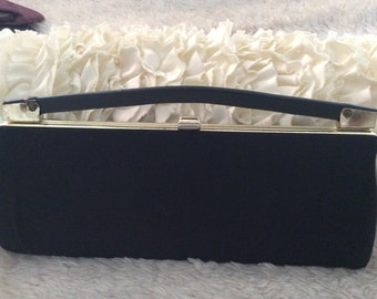 Vintage black and gold clutch