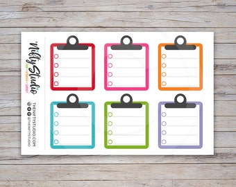Clipboard Stickers   Planner Stickers   The Nifty Studio [110]