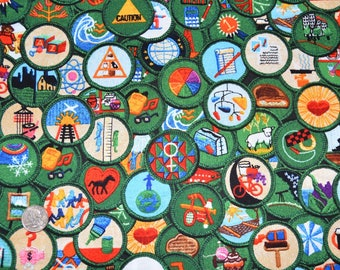 New Posting!   Robert Kaufman Registered GIRL SCOUT Fabric -  100% Kona Cotton - RARE