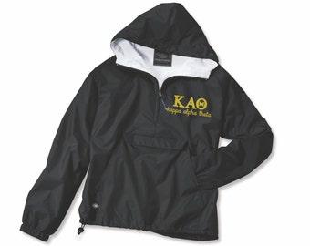 Kappa Alpha Theta, KAθ, Anorak Jacket, KAθ Jacket, Kappa Alpha Theta Jacket, Kappa Alpha Theta Anorak, KAθ Outerwear, sorority