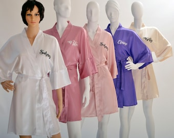 Bridesmaid Robes / Bridesmaids Robes / Robes / Bridal Robe / Bride Robe / Robe / Bridal Party Robes / Bridesmaid Gifts / Solid Color Robes