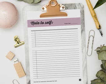 Printable Notes / Note to Self / Daily Notes