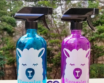 Essential Oil Spray Label, 16 oz Llama LABEL ONLY Spray Bottle Cleaner, Thieves Cleaner, On Guard Cleaner, After Sun, Room, Linen, Bug Off