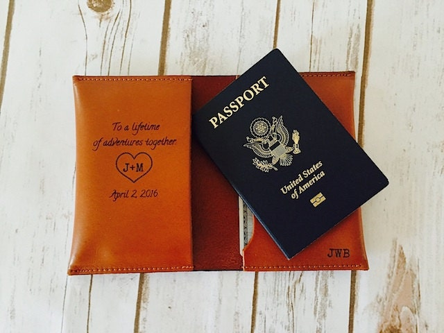 Grooms Wedding Gift To Bride: The Perfect Wedding Gift Passport Cover Holder Husband Gift
