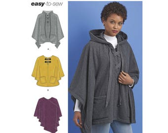 Simplicity Sewing Pattern 8517 Misses' Set of Ponchos