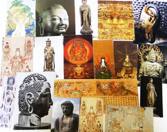 Over 20 pieces Buddha themed ephemera - Scrap pack,Collage Materials,Art Journaling,creative kit cards, life project,Glue book