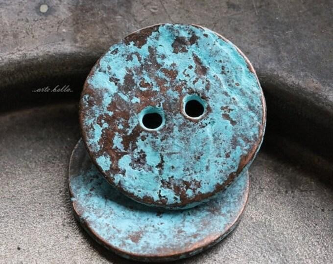 WAVY BUTTON No. 137 .. 2 Mykonos Greek Buttons 19-20mm (M137-2)