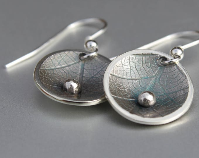 Leaf Earrings, Handmade Sterling Silver Jewelry, Silver Jewellery, Silver Earrings, Earrings.