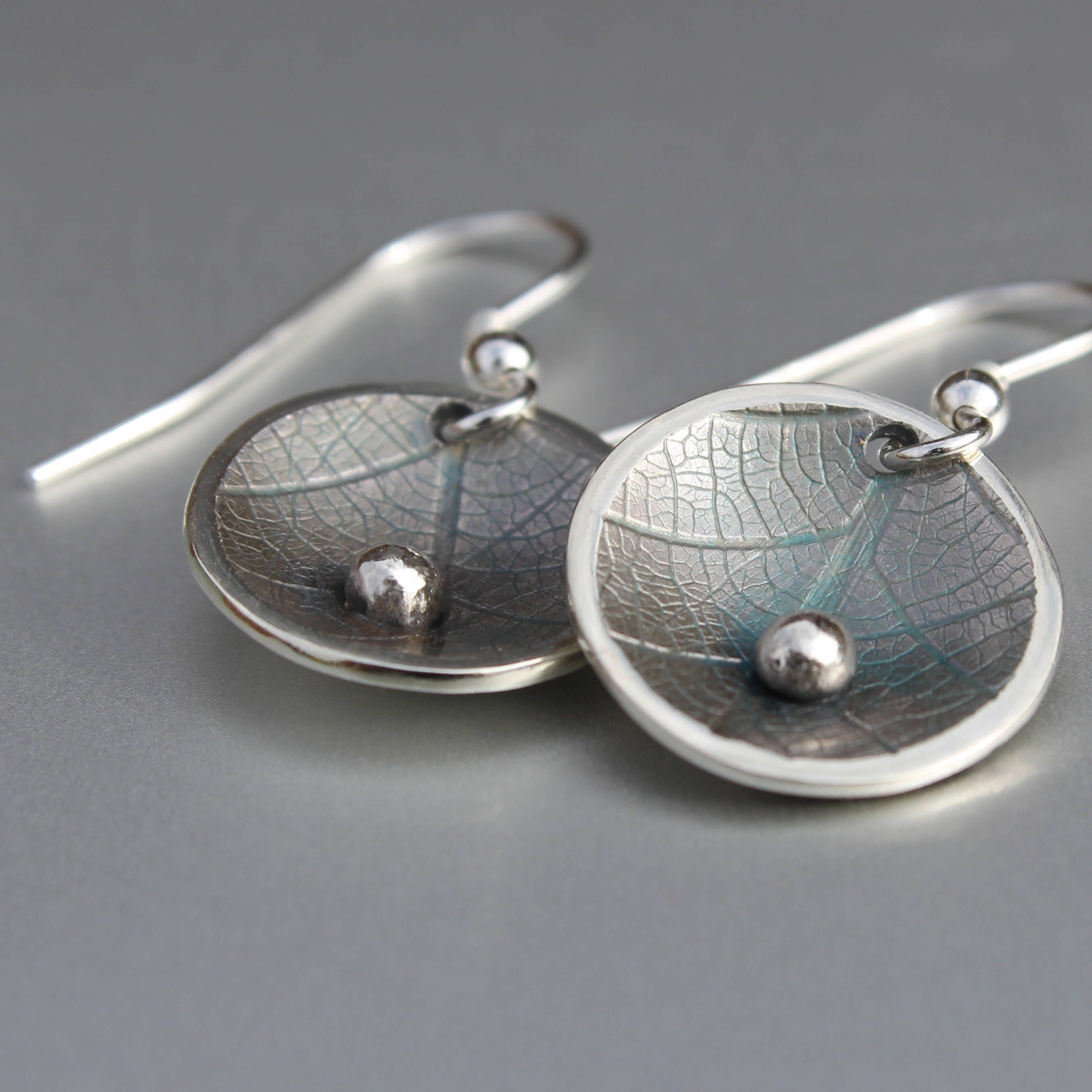 Leaf Earrings, Handmade Sterling Silver Jewelry, Silver Jewellery ...