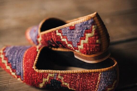 Shoes Slipper Shoes Shoes Boho Handmade Moroccan Ottoman Shoes 9 41 EU Shoes US Espadrillas Kilim Shoes Shoes Leather Kilim 5 Shoes ZxPwwIqS4