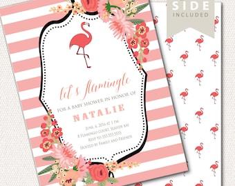 Flamingo Baby Shower Invitation, Flamingo Party Invitation, Flamingo Baby  Shower Invite, Flamingo Theme