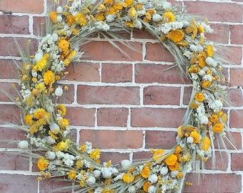 Bring Me Sunshine Dried Flower Wreath