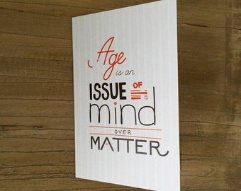 Mind Over Matter Birthday Card