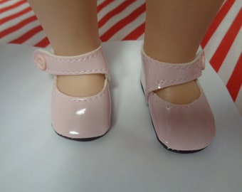 Pink Patent Leather Shoes for 14 Inch Dolls- Fits  Wellie Wisher Dolls Only