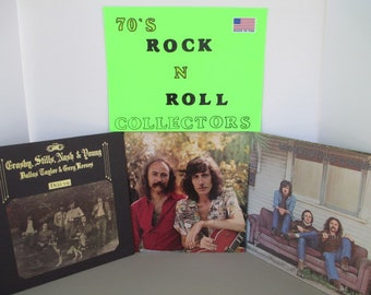 Crosby Stills Nash Young 3 Vintage vinyl albums Deja yu