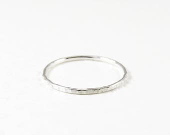 Sterling Silver Ring, Stacking Ring, Skinny Ring, Grooved Sterling Silver Thin Ring, Thumb Ring, Pinky Ring, Gift for Her