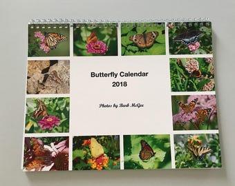 2018 Butterfly Wall Calendar
