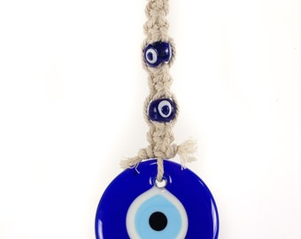 Very large Evil eye Wall Hanging - Protection & Good Luck - Wall decoration - Large evil eye - Deco - Ethnic - Good luck - evil eyes
