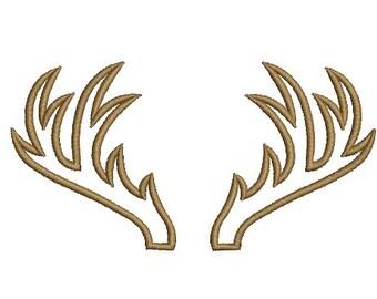 Antlers Embroidery Applique Design Antler Machine Deer Embroidery Instant Download ER1024E2