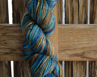 Mountain Water hand dyed wool yarn OOAK