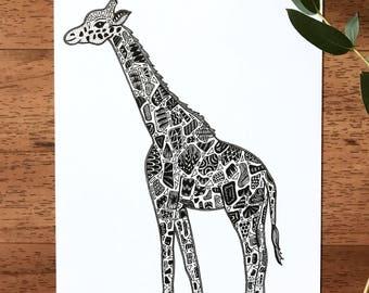 Young Giraffe Print