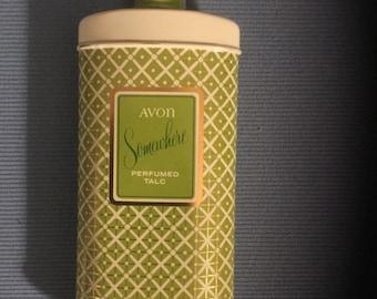 Vintage Avon Perfumed Talc Tin