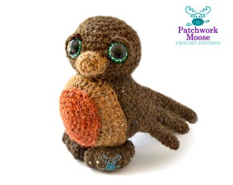 Robin Amigurumi Crochet Pattern PDF Instant Download - Felix