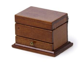 1/12 Dollhouse Miniature Jewelry Box Wooden