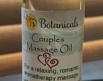 Couples Massage Oil. Exotic, romantic massage with essential oils. Add another dimension to your shared massage experience!