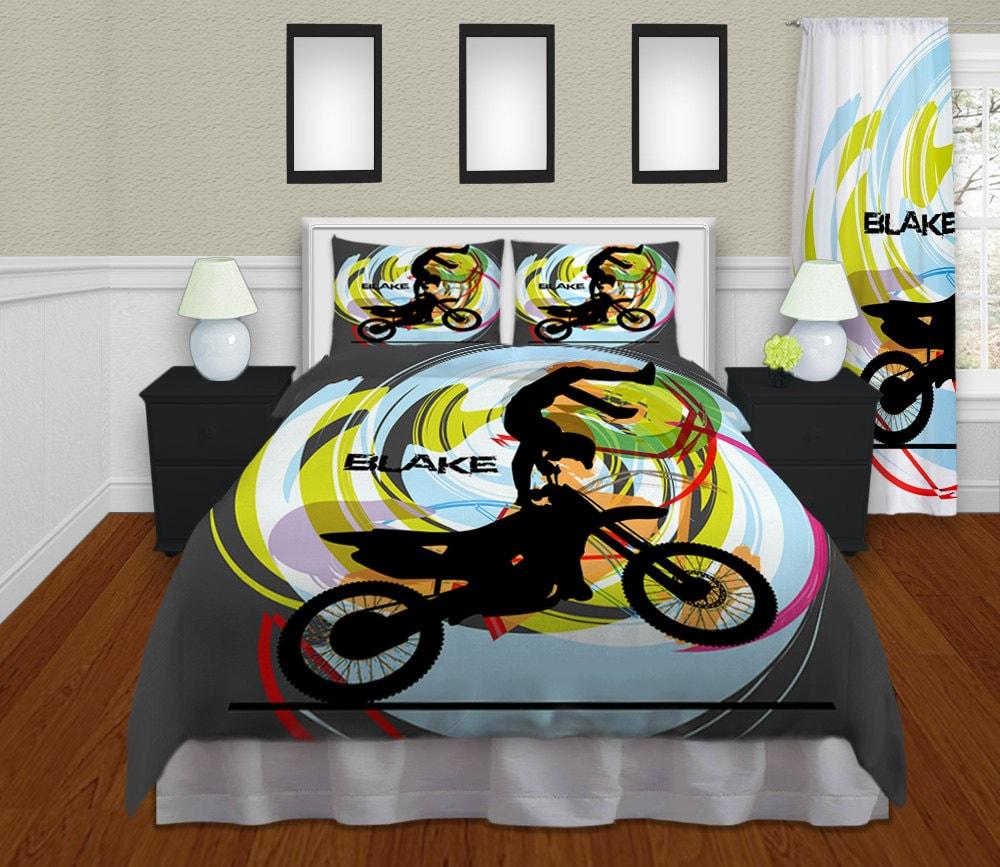 Funda nórdica de motocross niños ropa de cama de