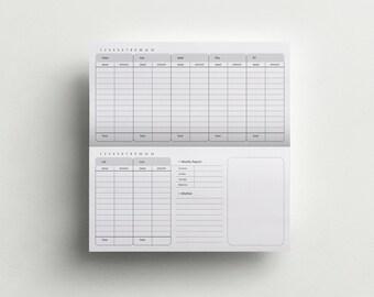 Traveler's Notebook Insert - Expense Insert - Budget Planner - Printable booklet - Planner insert - Finance Planner