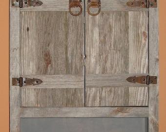 WEATHERED WOOD TOILET Cabinet   Rustic Toilet Cabinet  Rustic Bathroom