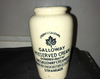 galloway cream pot mint condition