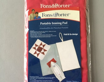 Ironing Board Cover, Portable Ironing Pad by Fons & Porter, For Quilting Classes, Travel, Two-Sided with Cotton Twill, Non-Stick