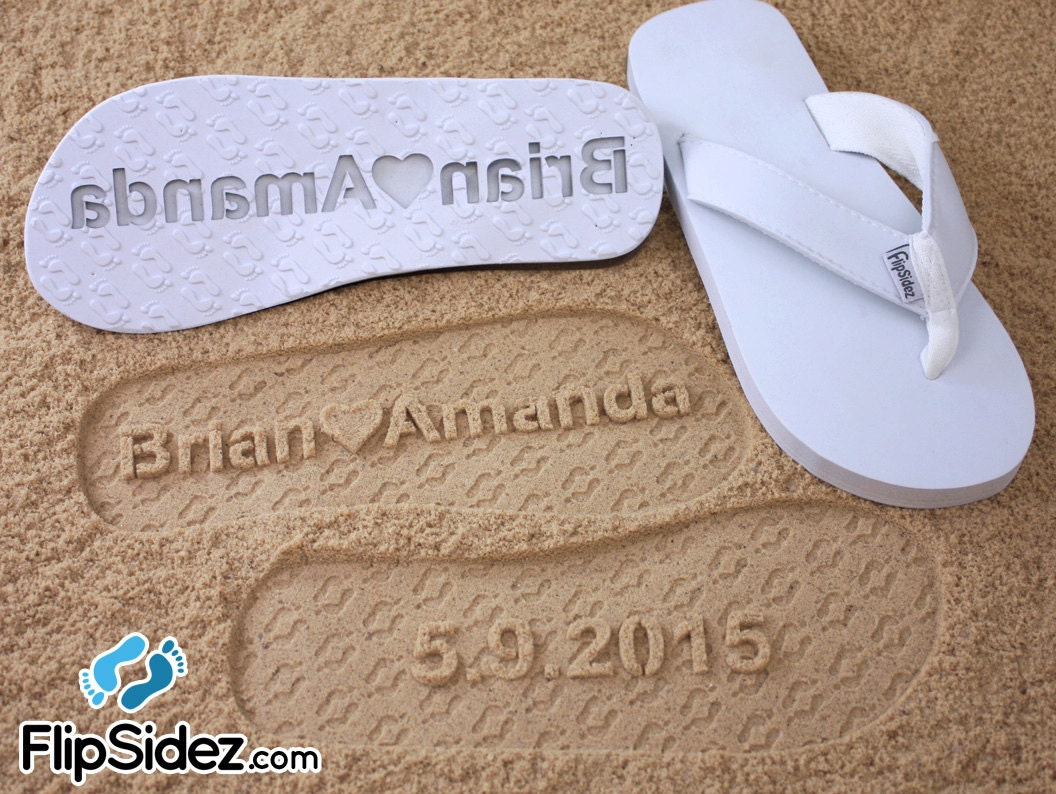 Custom beach wedding sandals personalize your own sand zoom junglespirit Choice Image