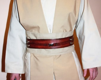 Custom made 4 Piece Star Wars Jedi Tunic, Tabards and Obi set