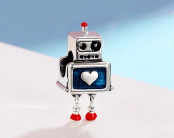 pandora robot girl charm