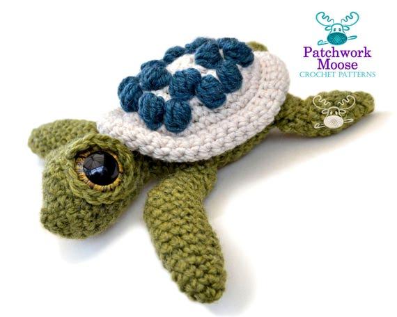 Amigurumi Turtle : Amigurumi sea turtle crochet pattern pdf instant download