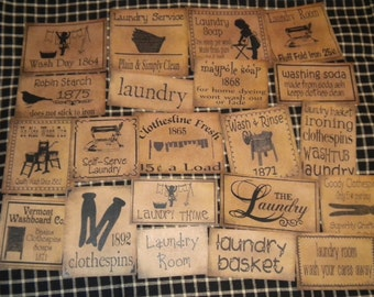 Set of (21) assorted sizes Laundry Prim Pantry Labels