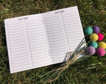 Traveler's Notebook B6 Size To Do List Inserts