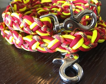Custom Celtic knot reins