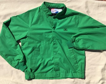 Vintage Pioneer Seed Company Swingster John Deere Green Farmer Jacket, Lined Snapped Bomber Jacket, Vintage Clothing, Mens Coat