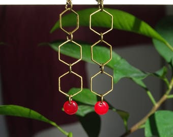 Thin Hexagon EARRINGS